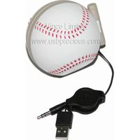 Portable USB Speaker Baseball Shape, PUS-Baseball