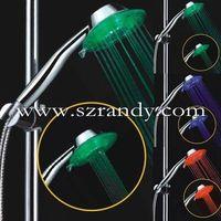 plastic temperature sensor led light shower