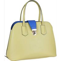 Yellow  color Brand Famous Fashion genuine leather tote bags