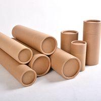 color custom printed cylinder round kraft paper tube box thumbnail image