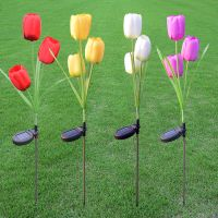 3 Branch solar tulip light LED solar flower light