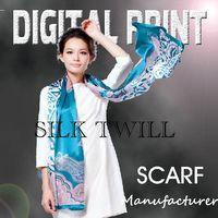Printed Silk Twill Silk Scarf