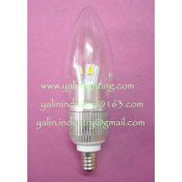 E12 LED Candelabra bulb, E14 chandelier candle light, 3W SMD interior lamp