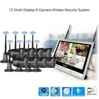 12.5 inch Disdplay 8 camera Wireless Security system New design IP66 waterproof camera thumbnail image