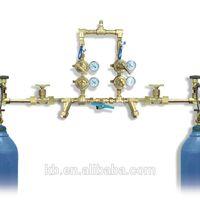 Manual medical gas manifold system