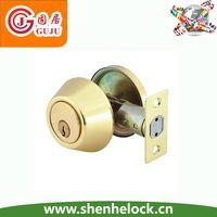 Residential single or double deadbolt lock
