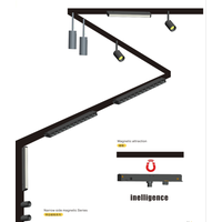 1m 1.5m 2m 3m 3wire Rail LED Line System Track Light Rail for LED Track Light