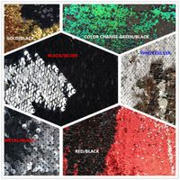 Hot saling 5mm stretch reversible sequin mesh fabric