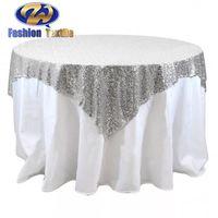 Cheap White Sequin Round Tablecloth Wedding thumbnail image