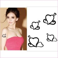 Body Tattoo Stickers Black Arm Waterproof Temporary Tattoo For Women Stickers On The Body Art Transf