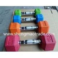 olympic hex rubber dumbbell thumbnail image