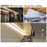 Up and down double-sided emitting, LED linear light for office, cafe, home and shop