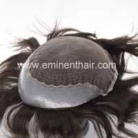 Lace with Clear PU on Sides Back, Stock Toupee Hair Piece