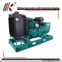 Genuine 250kw cummins diesel genset price for sale