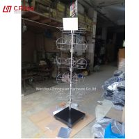 Metal Retail Store Mesh Stand Grid Wire Metal Hat Cap Display Rack stand for grocery shop thumbnail image