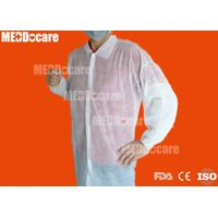 disposable single collar no pocket elastic band lab gown
