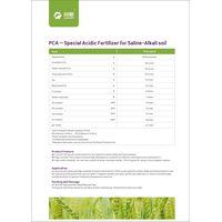 PCA-acid fertilizer for saline alkali soil improvement
