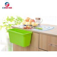 Creative Multifuctional Plastic Kitchen Hanging Food Waste Garbage Bowl Bin Rubbish Organizer