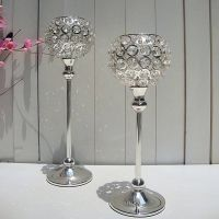 elegant wedding crystal candle holder centerpieces