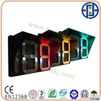2.5 Digit Tri-Color Countdown Meter Road Traffic Signal Light