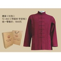 Tranditional chinese clothing-Tang suits(red) thumbnail image