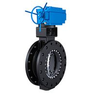 Customizable Wafer Type End Gear Double-Offset Butterfly Valve