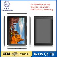large screen 13.3 inch wifi tablet quad core Resolution 1920*1080 10000Mah battery 1303A