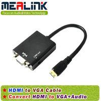 Mini HDMI to VGA+Audio Cable thumbnail image
