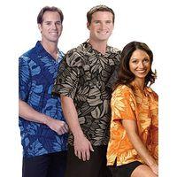 Mens Silk Printed Texture S/S camp shirt thumbnail image