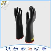 length insulating safety gloves black