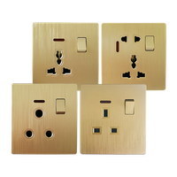 1 gang 13A 15A wall socket with switch thumbnail image
