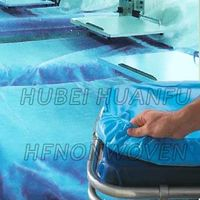 Disposable nonwoven bed sheet and bed cover