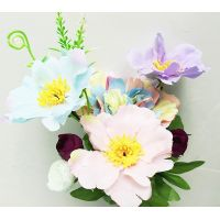 Silk flower wedding bouquet rose and peony Artificial flowers home decoration party decoration