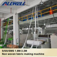 Single S 1600mm PP Spunbond non woven fabrics making machine thumbnail image