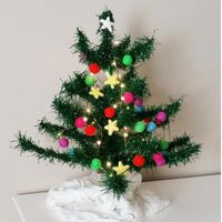 High quality Rainbow felt ball garland for Christmas tree decoration