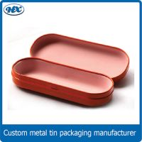 Metal tin eyewear glasses sunglasses case