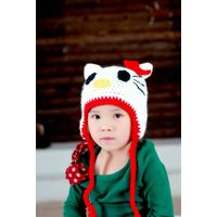 Hand crochet children cartoon hats