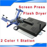 2 Color 1 Station Silk Screen Printing Machine Press Equipment Flash Dryer DIY thumbnail image