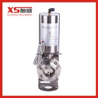 Trade Assurance SS304 Hygienic 3A/SMS/DIN Butt Welded Butterfly Valve With Pneumatic For Brewery thumbnail image