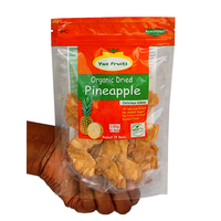 Organic dried pineapple, 100g pouches by YAO FRUITS