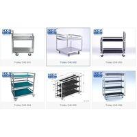 NOC pipe trolley material handling cart flow rack