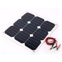 Photovoltaic 30W 18V Flexible Solar Panel Sunpower Mono Cell Outdoor Solar Charger for Yacht RV Boat