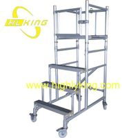 Foldable Aluminium Podiums Steps/Foldable mobile platform(HJ-116)