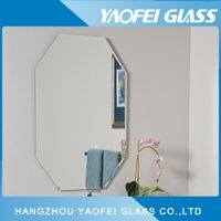 Frameless Oval Beveled Bathroom Mirror
