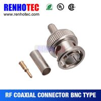 Rf connector coaxial cable RG178/RG179 bnc jack bulkhead crimp bnc straight  connector
