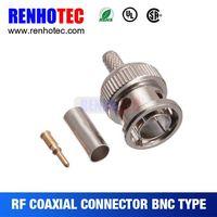 Rf connector coaxial cable RG178/RG179 bnc jack bulkhead crimp bnc straight  connector