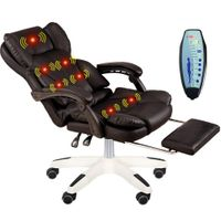 MAMASAM Office Massage Chair Computer Chair 7 Point Massage Adjustable Height Telescopic Footrest Er thumbnail image