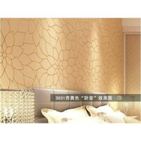 Modern Minimalist Style Wallpaper Embossed Flocking Floral Non woven 3D Wall paper Living room Bedro
