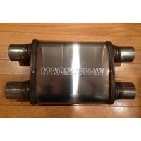 hot sale magnaflow muffler  dual in dual out polished mirror surface