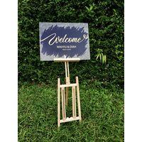 Wedding Banner Wood Standing